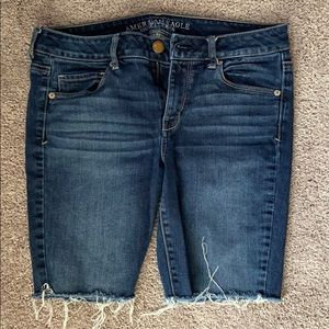 Size 10 American Eagle Jean Cut Off long shorts